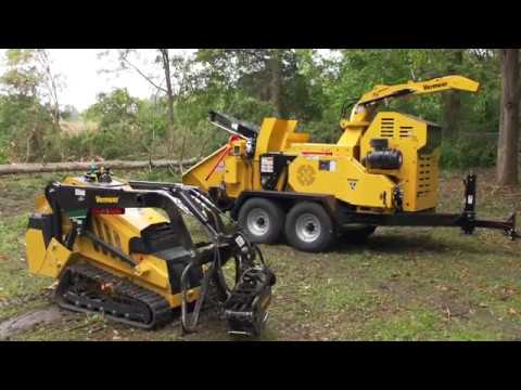 Big Vermeer Wood Chipper With Log Loader Funnycat Tv