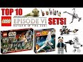 Top 10 BEST LEGO Star Wars Episode 6 Sets! Return Of The Jedi!