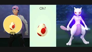 Shadow Mewtwo strikes back with 12km Red Egg