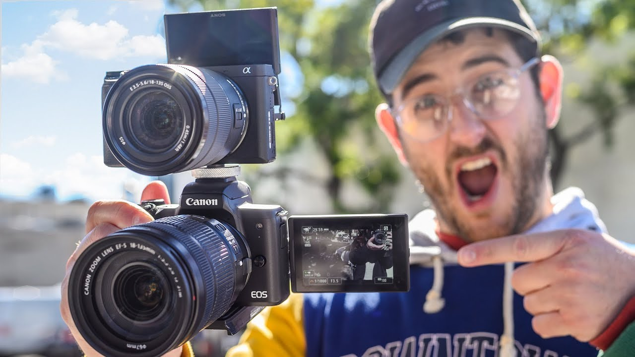 Sony a6400 VS Canon M50 - HANDS ON COMPARISON REVIEW!