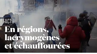 Grève générale : des tensions éclatent en marge des cortèges à Lyon, Bordeaux, Nantes...