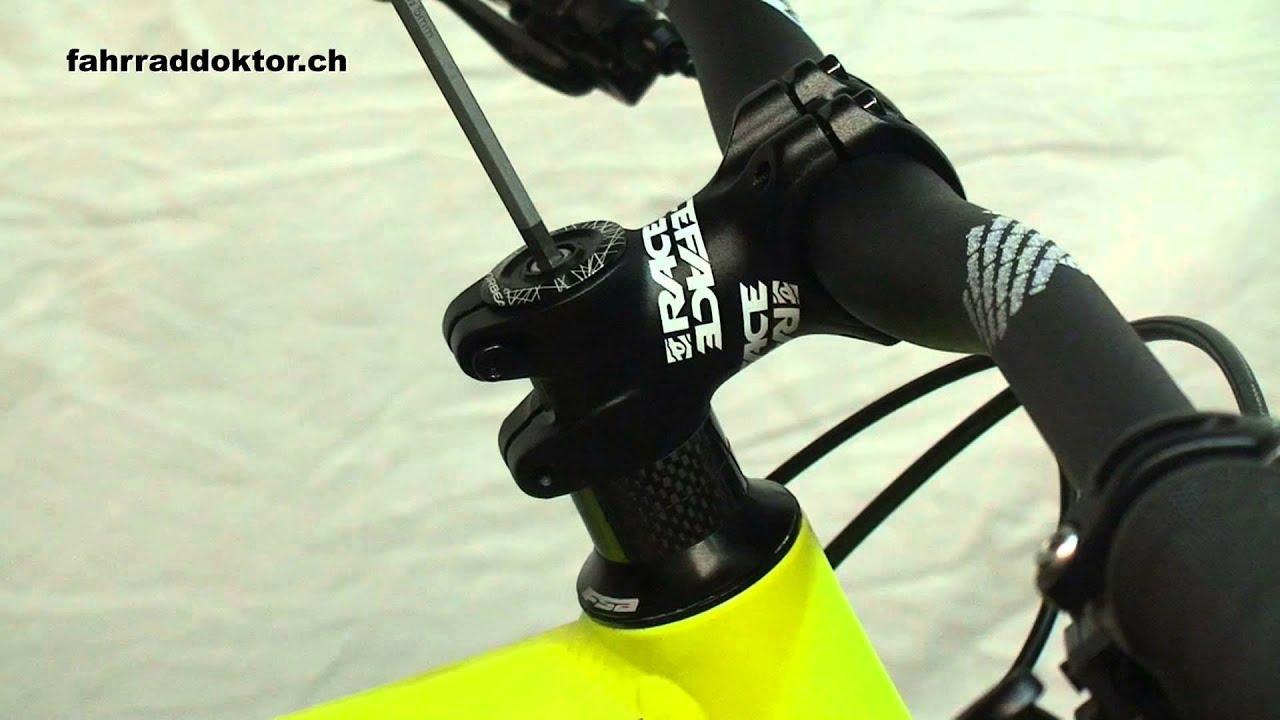 Steuersatz lenkkopflager einstellen beim fahrrad youtube for Mountainbike lenker hohe verstellen