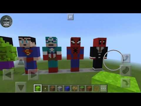 Minecraft Heroların Heykelleri