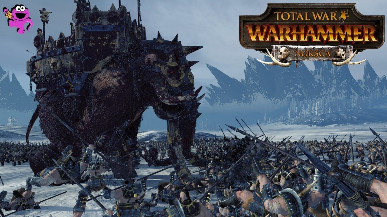 10000 BC Hunt of the Mammoth Herd - Total War Warhammer Norsca DLC Gameplay