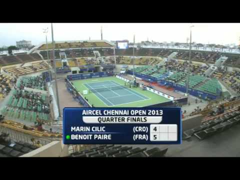Aircel Chennai Open 2013 : QF : Marin CILIC (CRO) vs Benoit PAIRE (FRA)