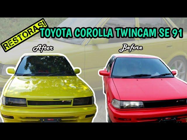 Restorasi Toyota Corolla Twincam SE 91