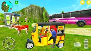 Auto Rickshaw Offroad Driver Simulator - Indian Tuk Tuk Transport Game - Android Gameplay screenshot 2