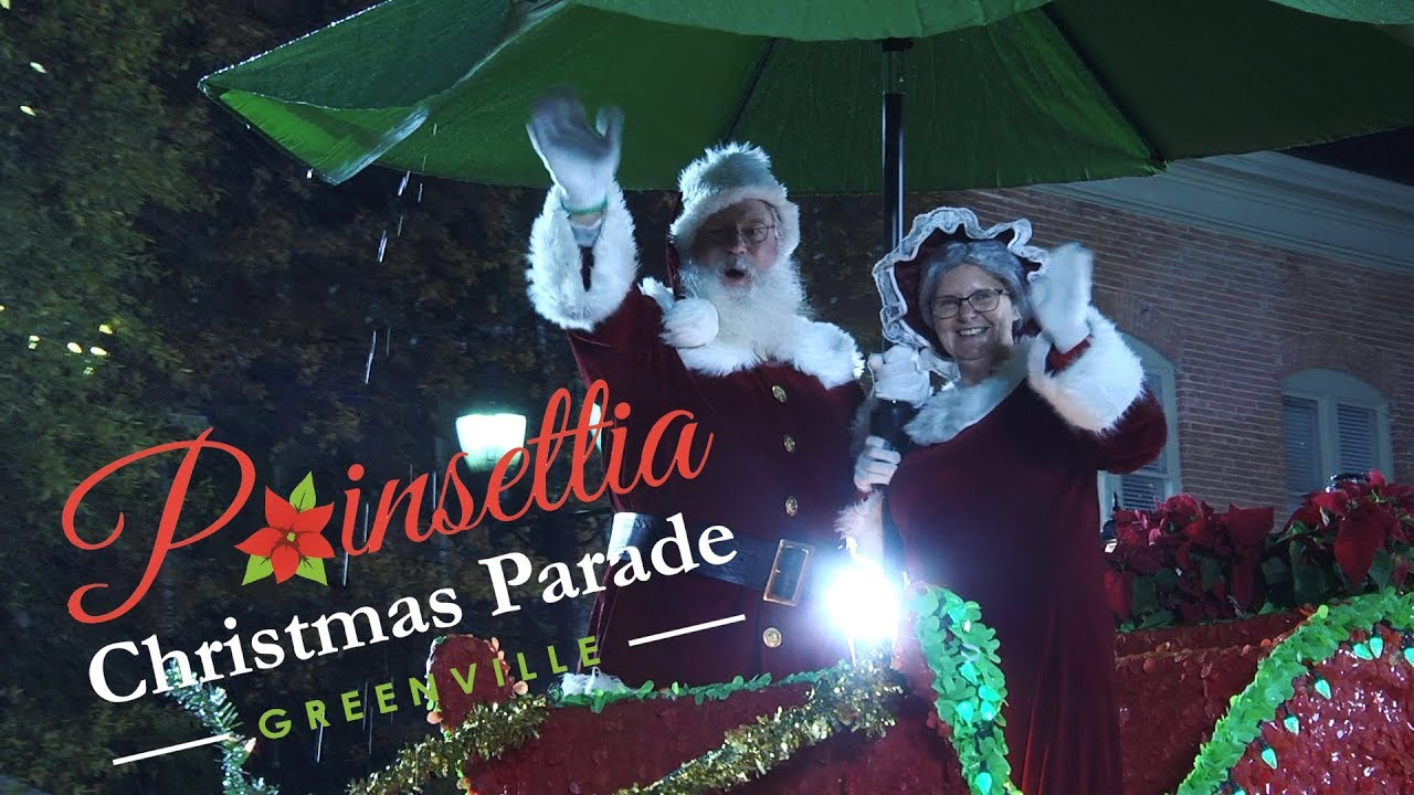 Greenville Christmas Parade 2020 Greenville Poinsettia Christmas Parade (2018)   YouTube