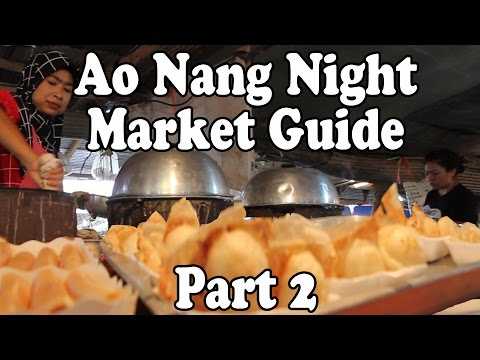 Ao Nang Krabi Night Market Tour: Pt 2 Thai Street Food & Shopping in Ao Nang Krabi Thailand