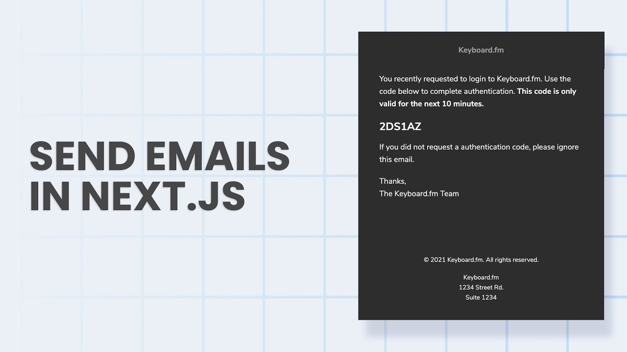 Send Emails From Your Next.js App With Sendgrid