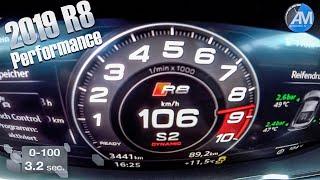 2019 AUDI R8 Performance (620hp) - 0-100 LAUNCH Control acceleration!