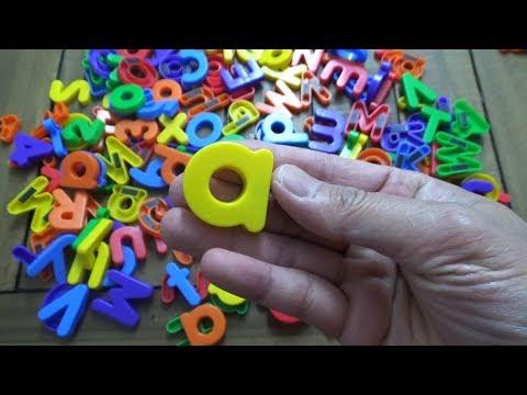 Learning ABC Letter Alphabets Bucket Full Of Fridge Letters For Kids