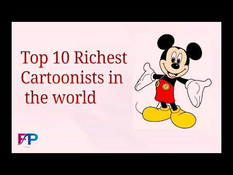 Top 10 Richest cartoonists in the world