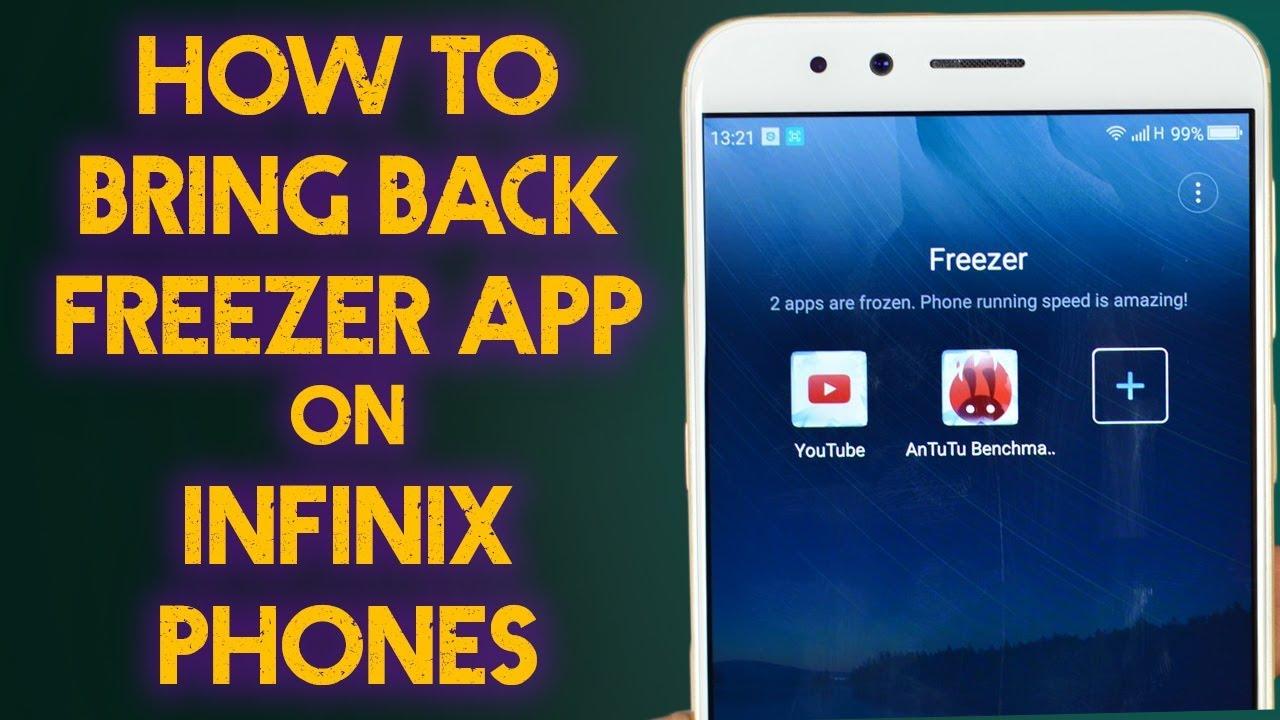 How to Bring Back Freezer App In App Drawer | XOS | InfinixTips |  Urdu/Hindi | 2018