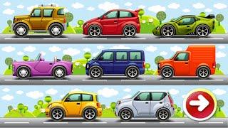 машинки - Анимированные пазлы автомобили
