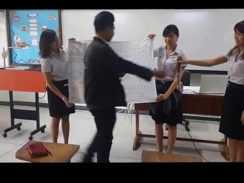 สาธิตการสอน เรื่องสำนวนสุภาษิตคำพังเพย ของกลุ่มกระดาษทราย โปรแกรมวิชาจิตวิทยา ภาษาไทย