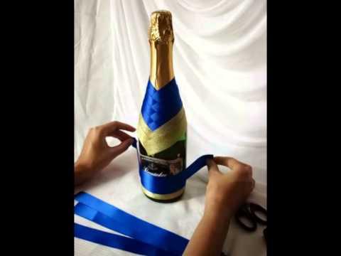 Chwalebne Dekoracja butelki -krok po kroku - YouTube DO92