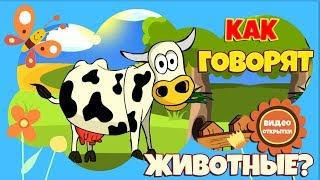 Песни для детей. Голоса животных. Развивающее видео для маленьких. 🐂Домашние животные На ферме. 🐑