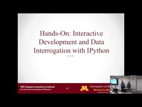 LIVE MSI Tutorial:  Interactive Computing 2/1/18