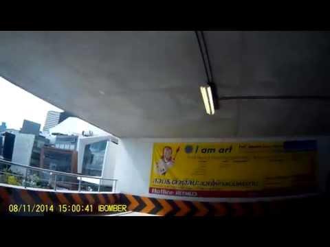 [CAR DVR] Review : ทางขึ้นที่จอดรถ อาคารที่จอดรถ สยามกิตติ์