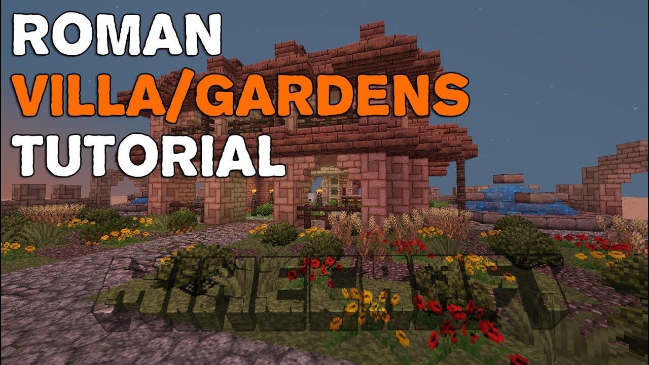 Minecraft   Roman Villa/Gardens   Tutorial - YouTube