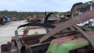 chernobyl 2012 II: the radioactive cemetery of vehicles, burjakivka (Бурякiвка)