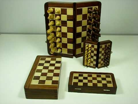 Folding Wooden Magnetic Travel Chess Sets from Wholesale Chess