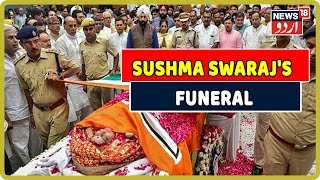 Sushma Swaraj Funeral Cremated With Full State Honours At Lodhi Crematorium