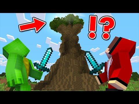 超巨大な木をのぼった結果!?【まいくら・マインクラフト・マイクラ】