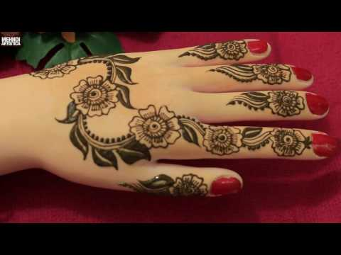 Leafy Art With Floral Twist Henna Mehndi Designs For Hands:Easy Simple Beautiful Trendy Mehendi 2017