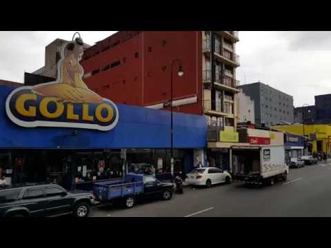 Driving tour in downtown San Jose,Costa Rica