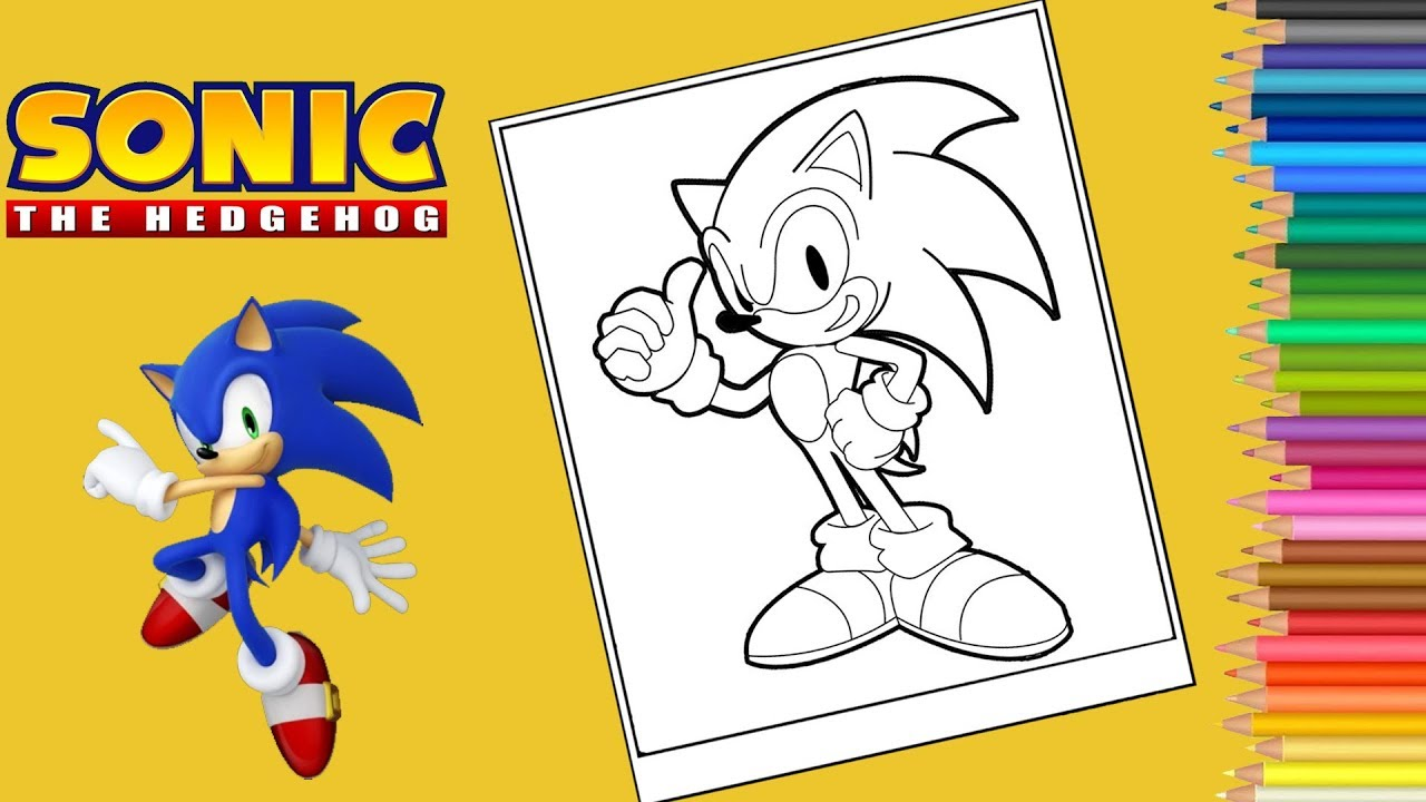 Coloring Sonic The Hedgehog Coloring Pages Sonic Forces Coloriage Sonic Forces Youtube