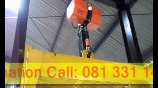 cargo lift barang 1 ton chain hoist hitachi dokumentasi kerja kota tuban
