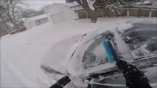 Cleaning snow off my car