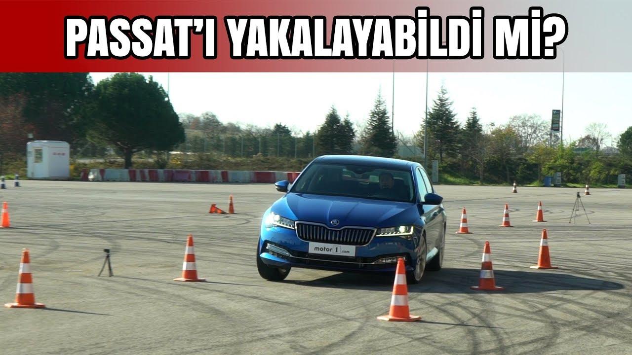 2019 Skoda Superb Geyik Testi | Passat'ı Yakalayabildi mi?
