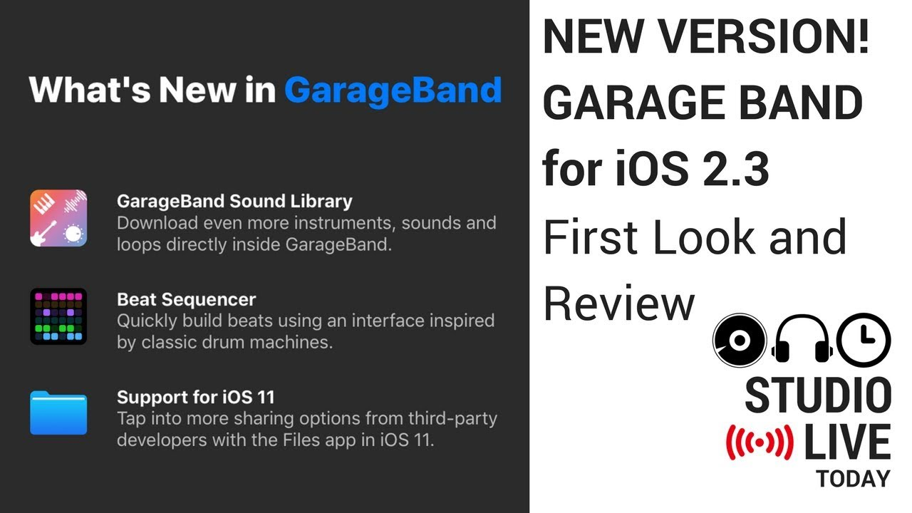New version garageband for ios 2 3 first look ipad iphone youtube - Latest version of garage band ...