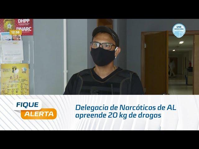 Delegacia de Narcóticos de AL apreende 20 kg de drogas no bairro Santos Dumont