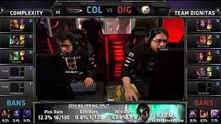 compLexity vs Dignitas | S4 NA LCS Summer split 2014 SuperWeek 1 Day 1 | COL vs DIG G4