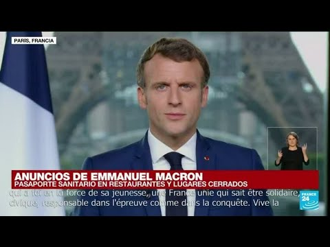 """Emmanuel Macron: El personal sanitario """"tendrá hasta el 15 de septiembre para vacunarse"""""""