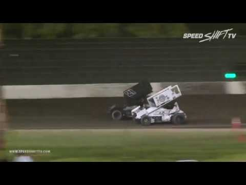 The second night of the Louie Vermeil Classic at Calistoga Speedway had the best of the King of the West by NARC Fujitsu Sprint Car Series in action on the ... - dirt track racing video image