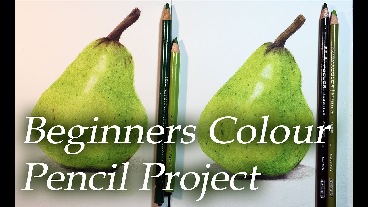 A Beginner\'s Color Pencil project - Drawing a Pear with 7 colors ...