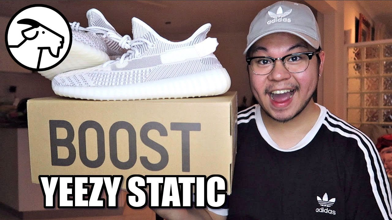 ce7dcf494 YEEZY BOOST 350 V2 STATIC UNBOXING + On Feet! (GOAT) - YouTube