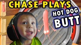 "Chase plays ""Hot Dog Butt"" + 2 Player Flappy Bird (2 Yr. Old Face Cam)"