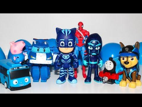 Мультики Киндер Сюрприз Щенячий патруль Робокар Поли Герои в масках Мультики для детей Kinder Toys