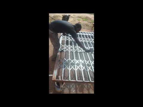 Building In Ghana Part 8 || Burglar Proof || Door Framing ||