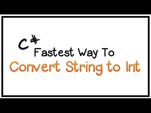 C# Tutorial - Part 19 - How To Convert String to Int