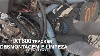XT 600 Tracker - Desmontagem do Carburador e limpeza da cuba