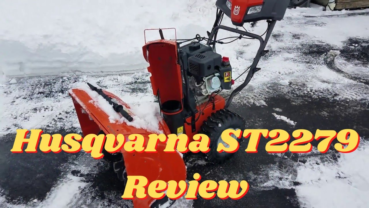 Husqvarna St227p Two Stage Snow Blower Pros Cons Review Youtube