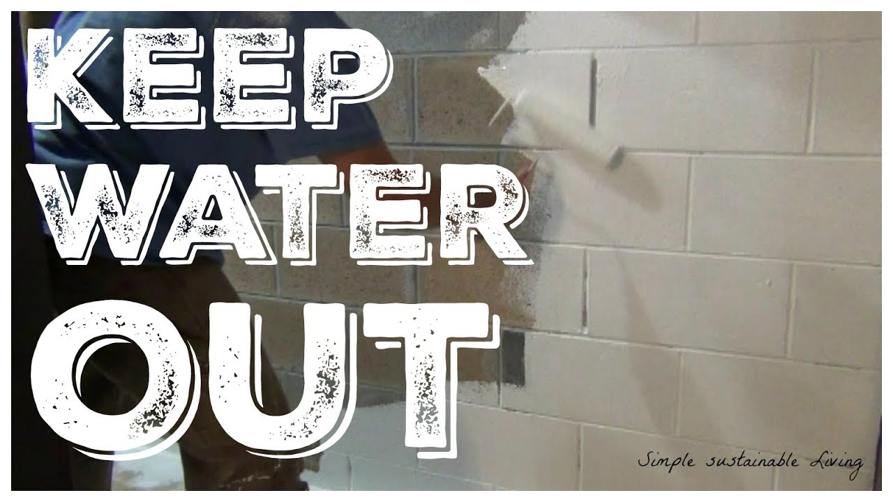 how to seal and waterproof your basement youtube rh youtube com