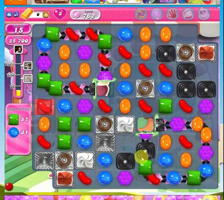 how to play candy crush level 762